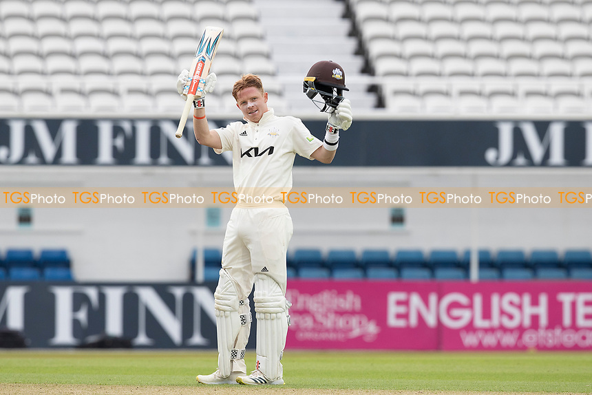 Ollie Pope of Surrey acknowledges his century during Surrey CCC vs Hampshire CCC, LV Insurance County Championship Group 2 Cricket at the Kia Oval on 30th April 2021