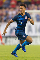 Tampa, FL - Thursday, October 11, 2018: Antonee Robinson during a USMNT match against Colombia.  Colombia defeated the USMNT 4-2.