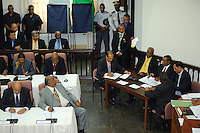 Ronny Brunswijk shows a valid vote to members of De Nationale Assemblée (DNA) / The National Assemble of Suriname  during presidential elections....Desi Bouterse (Desiré Delano Bouterse) chosen as new president of Suriname by De Nationale Assemblée (DNA) / The National Assemble of Suriname. He took 36 votes of 51 as leader of the Mega Combination. ....Robert_Ameerali the head of KKF (Kamer van Koophandel en Fabrieken) / Chamber of Commerce and Industry also selected as Vice President.....Desi Bouterse (Desiré Delano Bouterse) will sworn at 3 August 2010