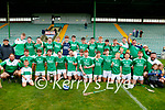Ballyduff players celebrate winning the Kerry County Minor Hurling final at Austin Stack Park on Saturday.