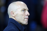 Swansea Citys head coach Bob Bradley prior to kick off of the Premier League match between West Bromwich Albion and Swansea City at The Hawthorns, England, UK. Wednesday 14 December 2016