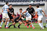 14th November 2020, Sydney, Australia;  Pablo Matera in possession. Tri Nations rugby union test match,  New Zealand All Blacks versus Argentina Pumas. Bankwest Stadium, Sydney, Australia.