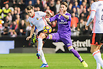 Sergio Ramos of Real Madrid fights for the ball with Munir El Haddadi Mohamed of Valencia CF during their La Liga match between Valencia CF and Real Madrid at the Estadio de Mestalla on 22 February 2017 in Valencia, Spain. Photo by Maria Jose Segovia Carmona / Power Sport Images