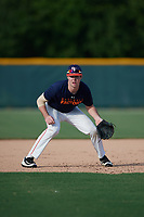 Adam Hunt (26), from Elkhorn, Nebraska, while playing for the Astros during the Baseball Factory Pirate City Christmas Camp & Tournament on December 27, 2017 at Pirate City in Bradenton, Florida.  (Mike Janes/Four Seam Images)