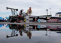 Aug 31, 2019; Clermont, IN, USA; NHRA top alcohol dragster driver Mike Bucher during qualifying for the US Nationals at Lucas Oil Raceway. Mandatory Credit: Mark J. Rebilas-USA TODAY Sports