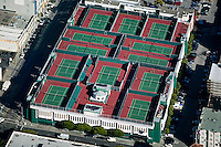 aerial photograph south of Market tennis club  San Francisco California