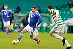 Celtic v St Johnstone…06.12.20   Celtic Park      SPFL<br />Michael O'Halloran goes by Tom Rogic<br />Picture by Graeme Hart.<br />Copyright Perthshire Picture Agency<br />Tel: 01738 623350  Mobile: 07990 594431