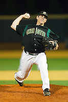 Relief pitcher Bryan Hamilton #32 of the Charlotte 49ers in action against the Wake Forest Demon Deacons at Gene Hooks Field on March 22, 2011 in Winston-Salem, North Carolina.   Photo by Brian Westerholt / Four Seam Images
