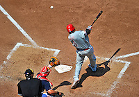 30 May 2011: Philadelphia Phillies first baseman Ryan Howard in action against the Washington Nationals at Nationals Park in Washington, District of Columbia. The Phillies defeated the Nationals 5-4 to take the first game of their 3-game series. Mandatory Credit: Ed Wolfstein Photo