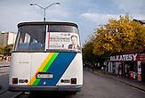 Miroslaw Maliszewski wirbt im Polnischen Wahlkampf für die Volkspartei Polen (PSL). Miroslaw Maliszewski attracts voters for the Polish´s People´s Party (PSL).