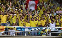BARRANQUILLA - COLOMBIA - 11 -06 -2013:Hinchas de  selección  Colombia antes del partido contra   la selección del Perú ,partido para la clasificación al mundial Brasil del 2014. Fans of the selection Colombia before the match against the selection of Peru, the qualification match for the World Cup Brazil 2014. <br /> (Foto: VizzorImage / Felipe Caicedo / Staff). VizzorImage / Felipe Caicedo / Staff