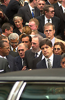 Montreal (qc) CANADA - Oct 3rd 2000 file Photo- Funeral of former Canadien Prime Minister Pierre Eliott Trudeau : Fidel Castro