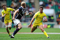 Ed Jenkins of Australia in action during the iRB Marriott London Sevens at Twickenham on Saturday 11th May 2013 (Photo by Rob Munro)