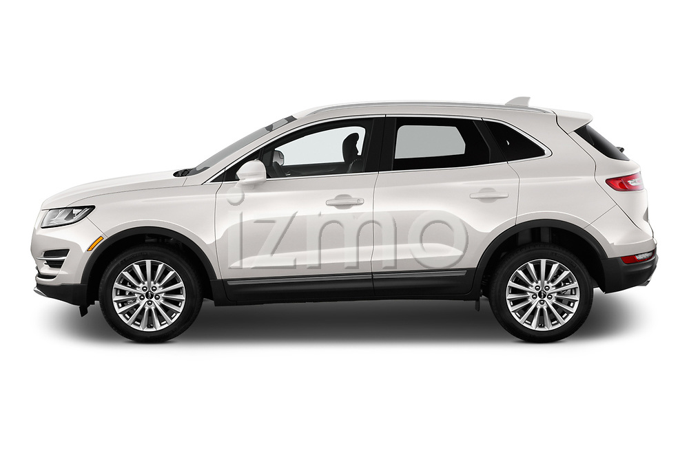 Car driver side profile view of a 2019 Lincoln MKC Base 5 Door SUV