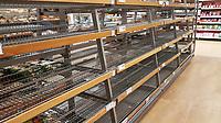 2018 03 01 Empty shelves in Sainsburys, Swansea, Wales, UK