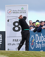 Friday 29th May 2015; Shane Lowry, Ireland, tees off at the 8th<br /> <br /> Dubai Duty Free Irish Open Golf Championship 2015, Round 2 County Down Golf Club, Co. Down. Picture credit: John Dickson / SPORTSFILE