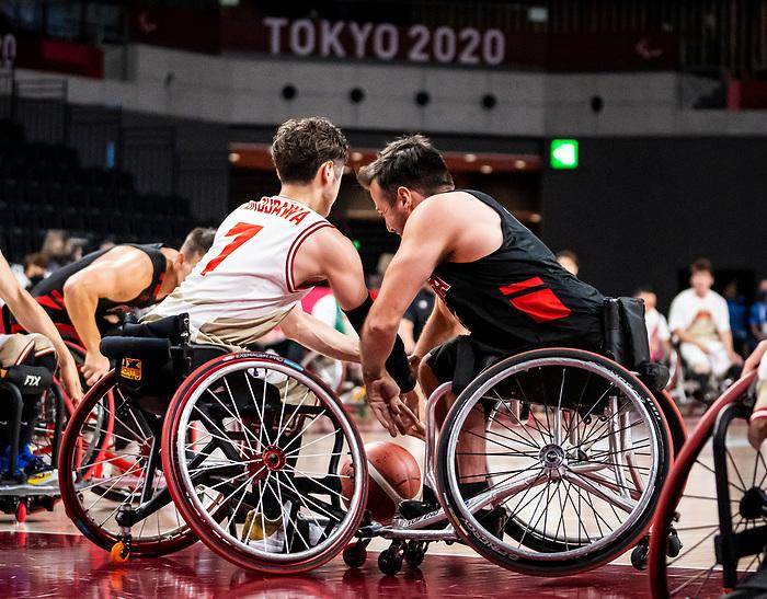 Jonathan Vermette, Tokyo 2020 - Wheelchair Basketball // Basketball en fauteuil roulant.<br /> Canada takes on Japan in a men's preliminary game // Le Canada affronte le Japon dans un match préliminaire masculin. 28/08/2021.