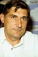 Montreal (Qc) CANADA,1988  File Photo<br /> <br /> Jean-Claude Brisseau, Filmmaker at the<br /> 1988   World Film Festival - Festival des Films du Monde<br /> <br /> <br /> <br /> <br /> <br /> <br /> <br /> <br /> <br /> <br /> <br /> <br /> <br /> <br /> <br /> <br /> <br /> <br /> PHOTO :  Agence Quebec Presse <br /> Montreal, Canada - File Photo - French filmmaker Jean-Claude Brisseau (R) news conference at the World Film Festival, August 31, 1988 for his movie DE BRUIT ET DE FUREUR.<br /> <br /> PHOTO :  Agence Quebec Presse
