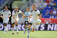 Robert Keane (10) of Tottenham Hotspur F. C. chases down a ball. Tottenham Hotspur F. C. and Sporting Clube de Portugal played to a 2-2 tie during a Barclays New York Challenge match at Red Bull Arena in Harrison, NJ, on July 25, 2010.