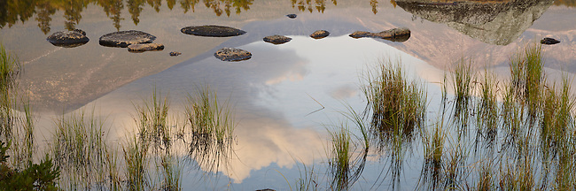 Sandy Stream Pond reflects the majestic Mt. Katahdin at dawn in Baxter State Park