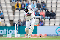 Ravichandran Ashwin, India drives straight down the ground during India vs New Zealand, ICC World Test Championship Final Cricket at The Hampshire Bowl on 20th June 2021