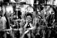 Bangladeshi Shiite Muslims gathered for prayer at Hoseni dalan on the day before Ashura.  Shiites mark Ashura, the tenth day of the month of Muharram, to commemorate the Battle of Karbala when Imam Hussein, a grandson of Prophet Muhammad, was killed.<br /> Dhaka, Bangladesh. Nov. 3, 2014