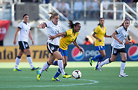 Leigh Ann Robinson, Rosana.  The USWNT defeated Brazil, 4-1, at an international friendly at the Florida Citrus Bowl in Orlando, FL.