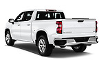 Car pictures of rear three quarter view of a 2019 Chevrolet Silverado 1500 LTZ 4 Door Pick Up angular rear