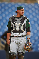 Fort Wayne TinCaps catcher Jose Ruiz (21) during a game against the Lake County Captains on May 20, 2015 at Classic Park in Eastlake, Ohio.  Lake County defeated Fort Wayne 4-3.  (Mike Janes/Four Seam Images)
