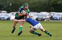 Saturday 10th October 2020 | Ballynahinch vs Queens<br /> <br /> Thomas Donnan is tackled by Conor McKee during the Energia Community Series clash between Ballynahinch and Queens at Ballymacarn Park, Ballynahinch, County Down, Northern Ireland. Photo by John Dickson / Dicksondigital