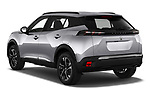 Car pictures of rear three quarter view of 2021 Peugeot 2008 Allure 5 Door SUV Angular Rear
