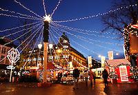 Kerstmis. Kerstmarkt op het Leidseplein