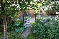Fenced vegetable garden room in Backyard Wildlife Habitat garden,  California