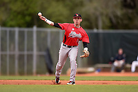 Illinois State Redbirds Dennis Colon (1) during a game against the Georgetown Hoyas on March 7, 2015 at North Charlotte Regional Park in Port Charlotte, Florida.  Illinois State defeated Georgetown 2-1.  (Mike Janes/Four Seam Images)