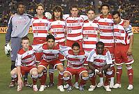 FC Dallas starting 11 team. FC Dallas beat the LA Galaxy 2-1 at the Home Depot Center in Carson, California, Thursday, April 12, 2007.