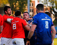 23th April 2021; RDS Arena, Dublin, Leinster, Ireland; Rainbow Cup Rugby, Leinster versus Munster; A scuffle breaks out between Scott Penny of Leinster and CJ Stander of Munster