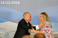 FOZ DO IGUAÇU, PR, 21.12.2018 – TEMER-PR –  O Presidente do Brasil, Michel Temer (MDB), e a Governadora do Paraná, Cida Borghetti , durante assinatura da Declaração Presidencial Conjunta Brasil-Paraguai sobre Integração Física, que autoriza a construção das duas pontes entre os dois países na tarde desta sexta-feira (21) em Foz do Iguaçu(PR). (Foto: Paulo Lisboa/Brazil Photo Press)