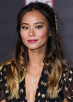 HOLLYWOOD, LOS ANGELES, CA, USA - NOVEMBER 04: Jamie Chung arrives at the Los Angeles Premiere Of Disney's 'Big Hero 6' held at the El Capitan Theatre on November 4, 2014 in Hollywood, Los Angeles, California, United States. (Photo by Xavier Collin/Celebrity Monitor)