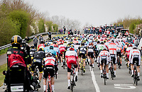 peloton crossing 'De Moeren' (open flatlands)<br /> <br /> 43rd Driedaagse Brugge-De Panne 2019 <br /> One day race (1.UWT) from Brugge to De Panne BEL (200km)<br /> <br /> ©kramon