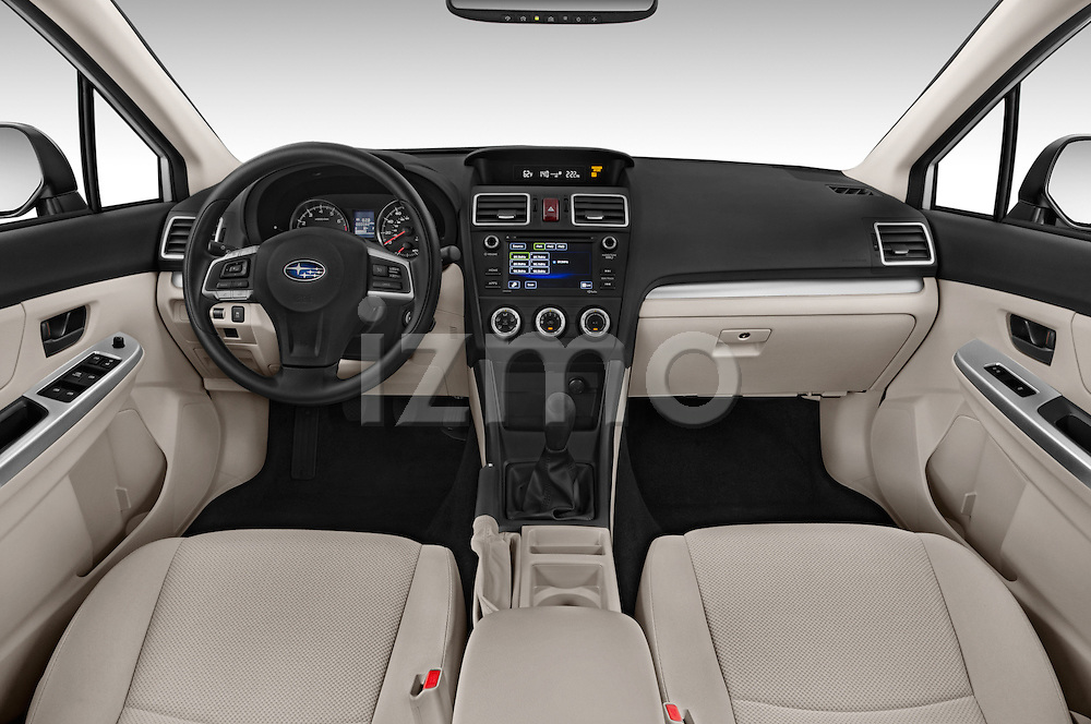 Stock photo of straight dashboard view of a 2015 Subaru Impreza 2.0I Auto 4 Door Hatchback Dashboard