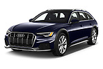 2021 Audi A6-Allroad Premium-Plus 5 Door Wagon Angular Front automotive stock photos of front three quarter view