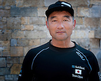 "Kazuhiro ""Fuku"" Sofuku, General Manager & bowman outside Southsea castle, parts of which date back to the 16th century, during the Louis Vuitton America's Cup World Series in Portsmouth, England on Friday 22 July 2016 (Photo by Rob Munro/Stewart Communications)"
