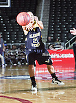 Alabama State Hornets guard Jasmine Evans (21) in action during the SWAC Tournament game between the Southern Lady Jaguars and the Alabama State Hornets at the Special Events Center in Garland, Texas. Southern defeats Alabama State 58 to 39.
