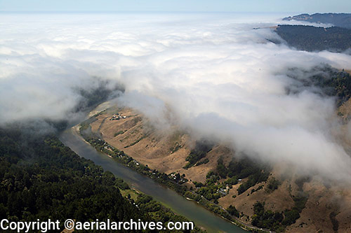aerial photograph Russian river, Sonoma County, California
