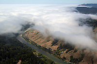 aerial photograph Russian river, Sonoma County, California