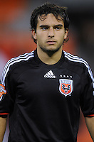 DC United forward Franco Niell (34). DC United defeated Harbour View 5-0 (6-1 on aggregate) in the second leg of the CONCACAF Champions' Cup quarterfinal series at RFK Stadium in Washington D. C. on March 18, 2008.