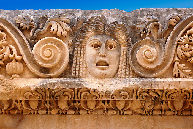 Relief sculpture freeze from the Roman theatre of Myra, Anatolia, Turkey