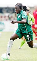 Eniola Aluko..Saint Louis Athletica were defeated 1-0 by Washington Freedom at Anheuser-Busch, Soccer Park, Fenton, Missouri.
