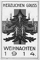 BNPS.co.uk (01202 558833)<br /> Pic: Pen&Sword/BNPS<br /> <br /> Pictured: A typical German Christmas card from 1914.<br /> <br /> Previously unseen accounts of the First World War Christmas Day truce from the German side have come to light over 100 years on.<br /> <br /> British historian Anthony Richards has pored over hundreds of German diaries to shed new light on the temporary ceasefire in 1914.<br /> <br /> The fascinating accounts include one by a soldier who described the truce as a 'miracle' and called enemy troops his 'brothers'.