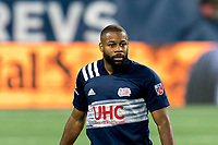 FOXBOROUGH, MA - AUGUST 29: Andrew Farrell #2 of New England Revolution on field portrait during a game between New York Red Bulls and New England Revolution at Gillette Stadium on August 29, 2020 in Foxborough, Massachusetts.